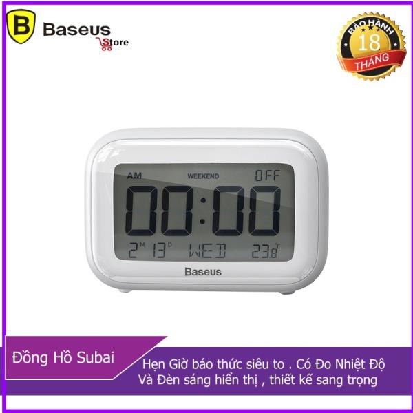 Đồng hồ để bàn Baseus Subai Báo Thức , Đo nhiệt Độ , Ngày Tháng (Baseus ACLK-B02) phân phối bởi Baseus Store bán chạy