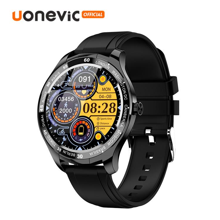Đồng hồ thông minh Uonevic T50 45Mm Full HD Life chống thấm nước có thể nhắc được cuộc gọi có chế độ chờ kết nối với IOS và Android - INTL