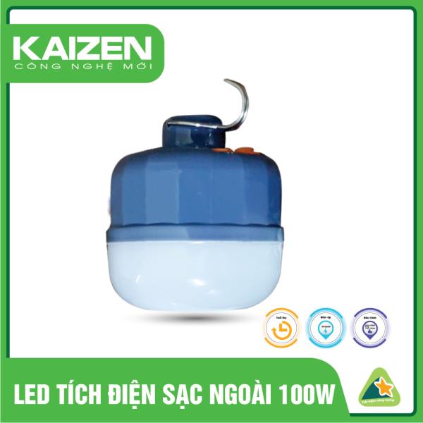 (tích điện 6-8h) Bóng đèn tích điện sạc ngoài Kaizen công suất 100-80-50W dùng 6-8h có móc treo tiện lợi, đèn sạc tích điện