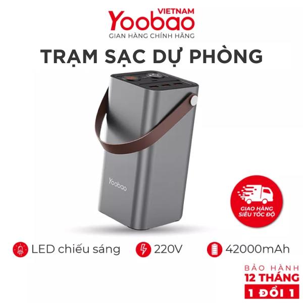 Trạm sạc dự phòng YOOBAO EN1 42000mAh - Sạc nhanh PD3.0 QC3.0 220V - Dùng cho điện thoại laptop, UPS lưu điện dùng khi dã ngoại, nghịch lưu dùng cho nhiều thiết bị 220V xoay chiều - Hàng phân phối chính hãng - Bảo hành 12tháng 1 đối 1