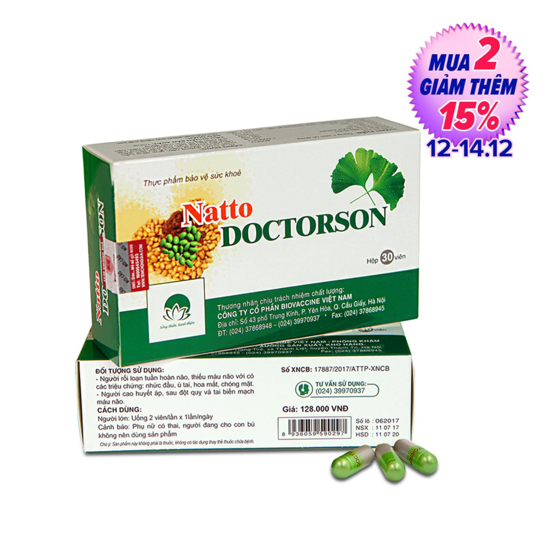 Thực phẩm chức năng NattoDoctorson, Natto Doctoron – Phòng ngừa đột quỵ và tai biến hiệu quả (hộp 30 viên)