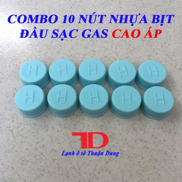 COMBO 10 Nút nhựa bịt đầu sạc gas cao áp H màu xanh