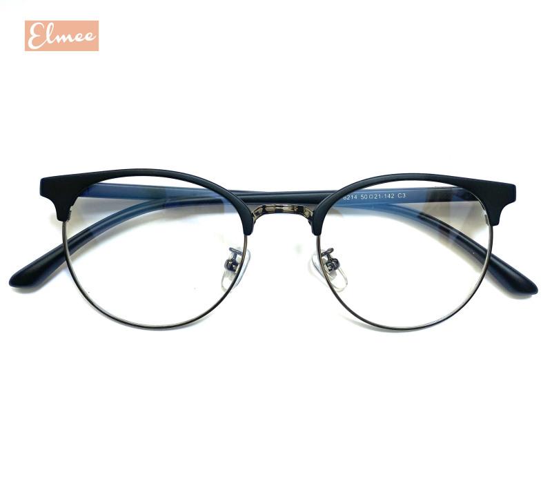 Giá bán Gọng kính cận nửa viền nam nữ dáng tròn Elmee 2125 sang chảnh, HOT TREND