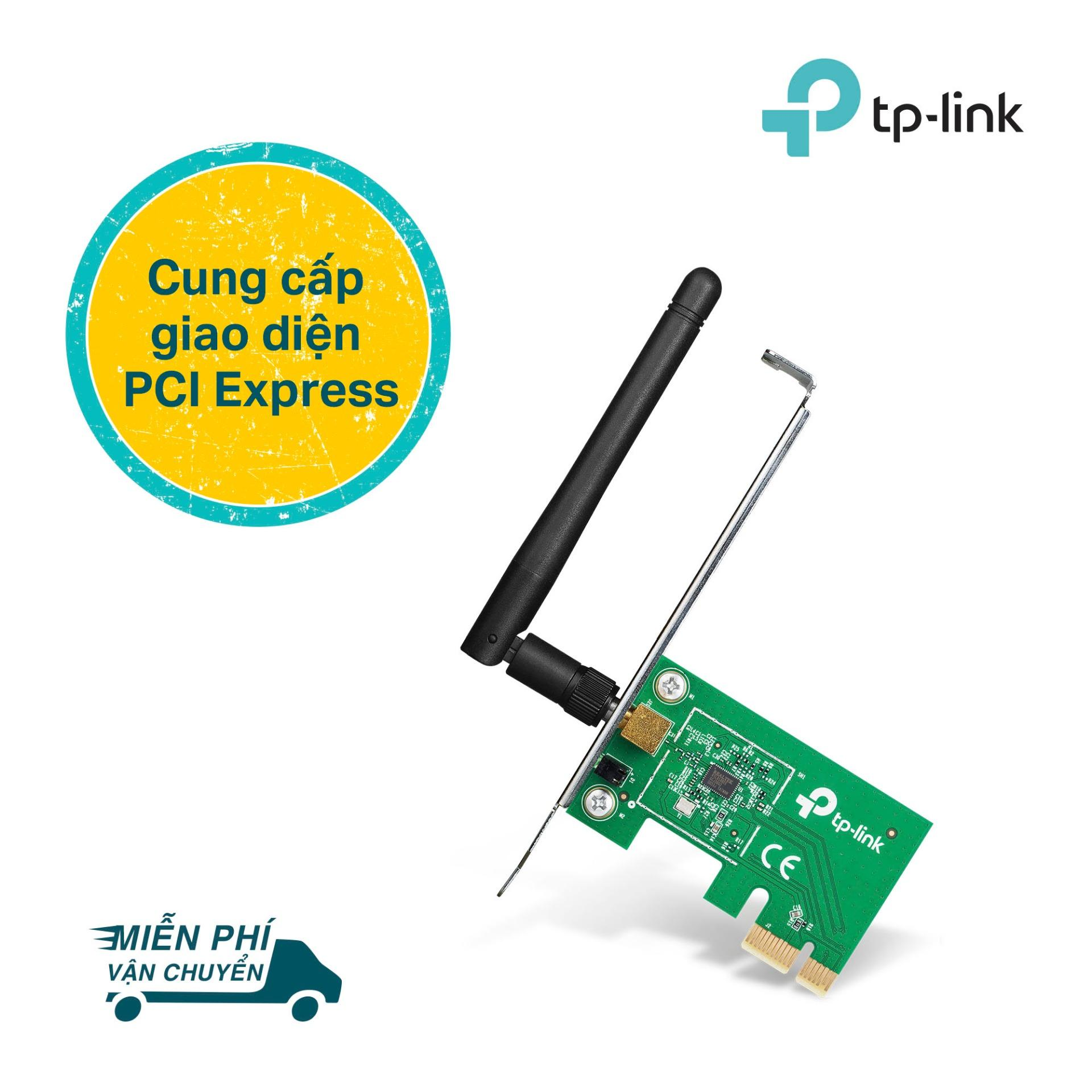 TP-Link Card mạng PCI Express Wifi Băng tần kép Chuẩn N 150Mbps Kết nối bảo mật cao- TL-WN781ND-Hãng phân phối chính thức