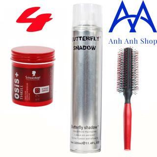 Combo Gôm Shadow 320ML và Sáp Osis + tặng 1 lược tạo kiểu tóc thumbnail