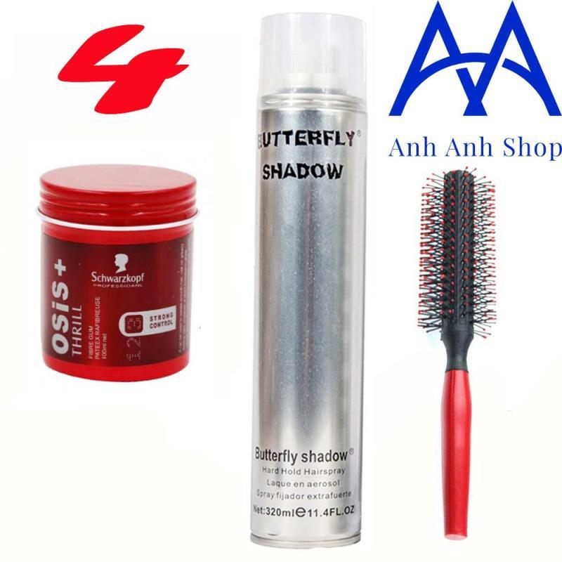 Combo Gôm Shadow 320ML và Sáp Osis + tặng 1 lược tạo kiểu tóc giá rẻ