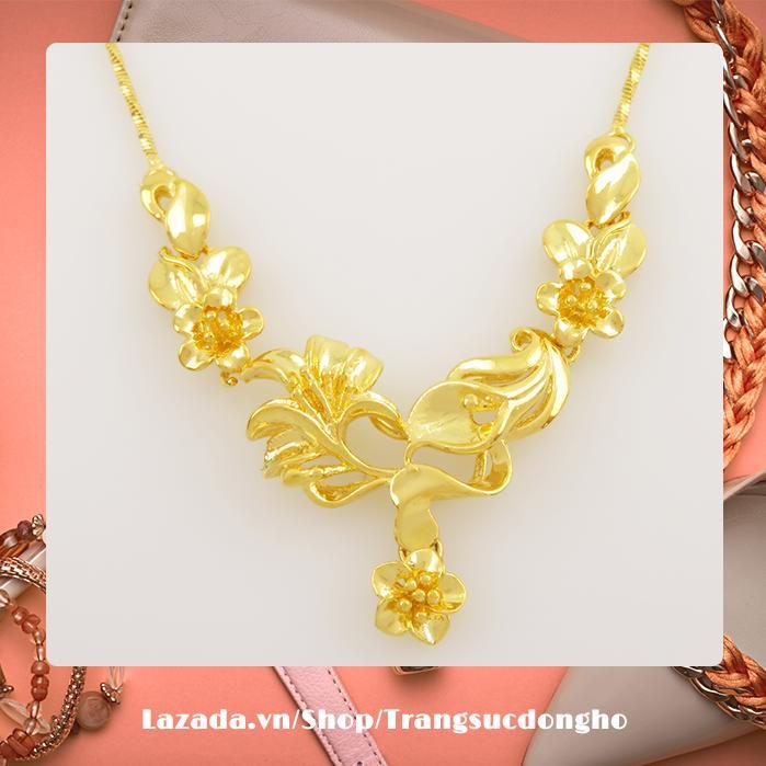 Dây Chuyền Nhánh Hoa Mạ Vàng 24k NX01