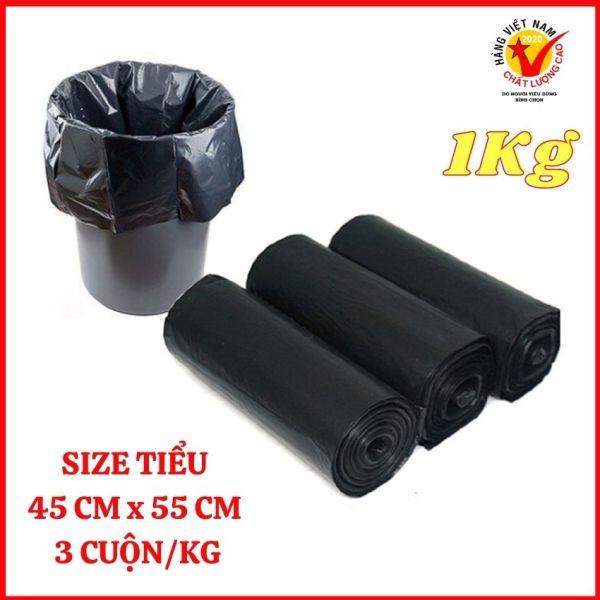 1KG - Túi đựng rác tự phân hủy sinh học, Size Đen Tiểu 45x55cm, ( 3 cuộn / kg ), Hàng Việt Nam chất lượng cao - Sản phẩm được sản xuất và phân phối bởi HOMEONE.PLUS