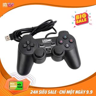 Tay cầm chơi game cho PC Laptop cổng USB đen (có gạt Analog) máy chơi game tay cầm chống rung nút chơi game thumbnail