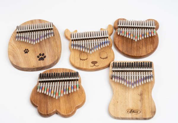 kalimba 17 phím gỗ Tặng full phụ kiện ,phù hợp cho người mới chơi
