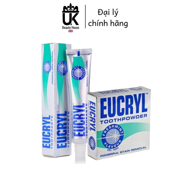 Combo Kem Đánh Răng Và Bột Làm Trắng Răng Eucryl