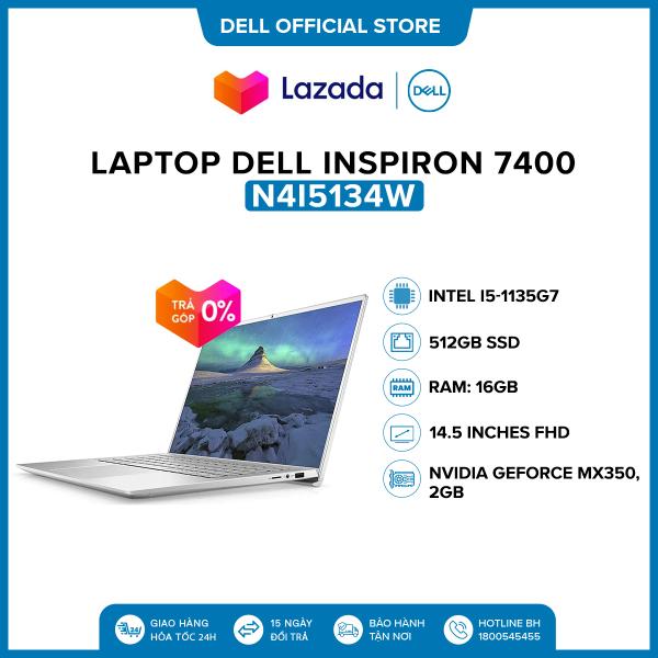 Bảng giá Laptop Dell Inspiron 7400 14.5 inches IPS QHD (Intel / i5-1135G7 / 16GB / 512GB SSD / NVIDIA GeForce MX350, 2 GB / Finger Print / Win 10 Home SL) l Silver l N4I5134W l HÀNG CHÍNH HÃNG Phong Vũ