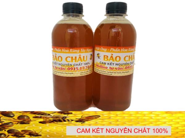 1000 ml Mật Ong Rừng Tây Nguyên (thương hiệu  Bảo Châu) - Loại cao cấp dùng tốt cho sức khỏe