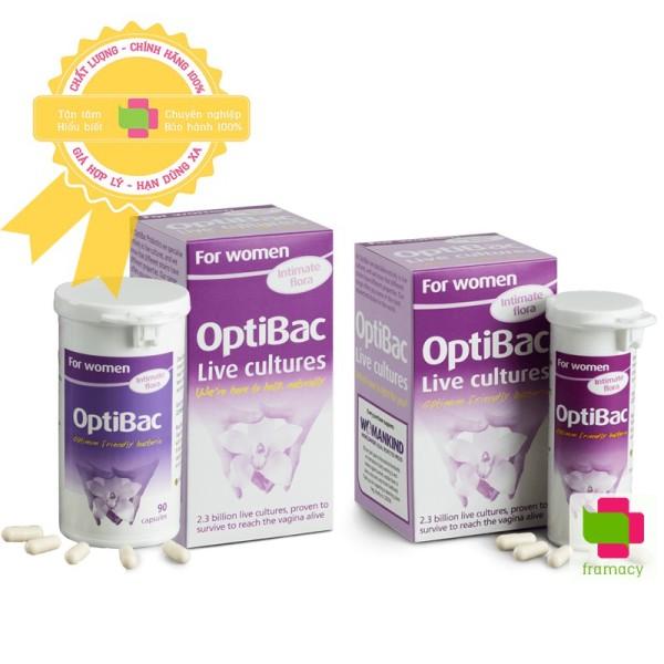 Men vi sinh Optibac tím Optibac Probiotics For Women, UK Anh Quốc (30v/90 viên) giảm vie^m phụ khoa cho phụ nữ và mẹ bầu nhập khẩu