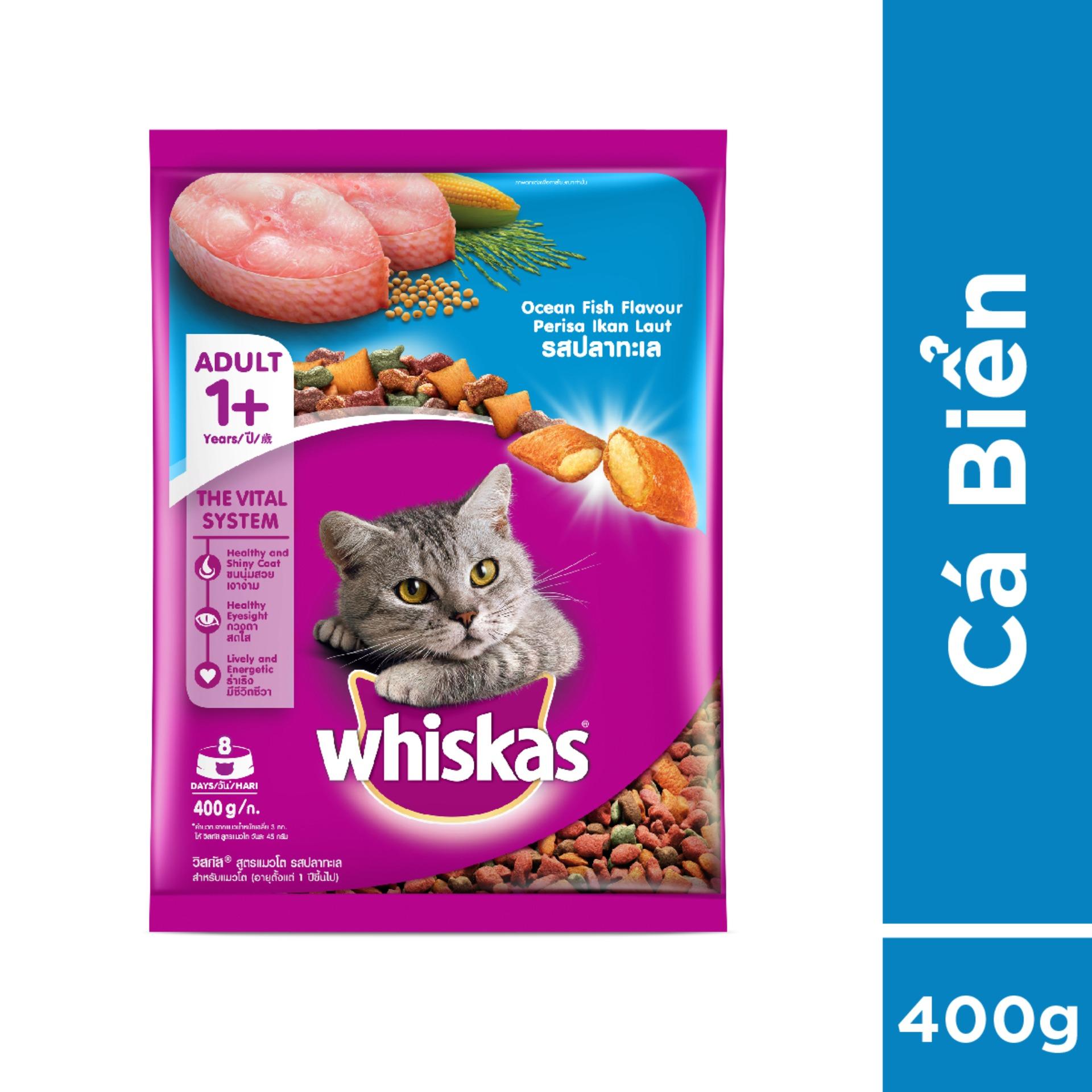 Thức ăn Cho Mèo Whiskas Vị Cá Biển Túi 400g Có Giá Rất Cạnh Tranh