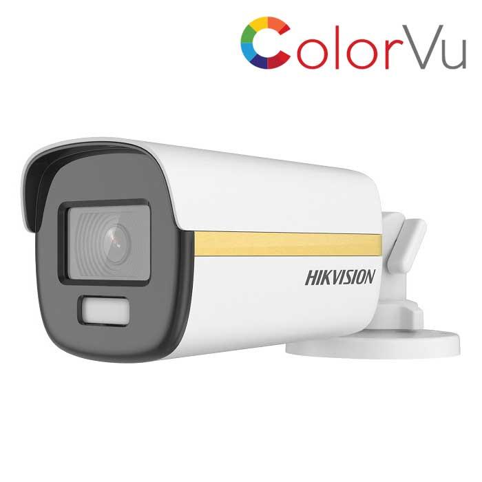 Camera có màu 24/7. Camera HDTVI ColorVu 2MP HIKVISION DS-2CE12DF3T-F. Hàng Chính Hãng