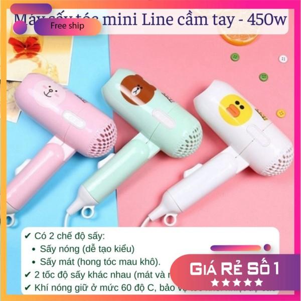 Máy sấy tóc LINE Máy sấy mini 2 chế độ 400W thiết kế nhỏ gọn xinh xắn - Máy Sấy Mini Thích Hợp Đi Du Lịch Công Tác giá rẻ
