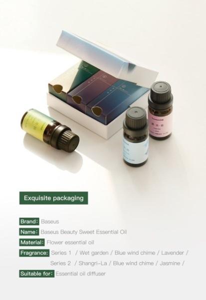 Tinh dầu thiên nhiên Baseus Beauty Sweet Essential Oil  - Set A1 (wet garden/b