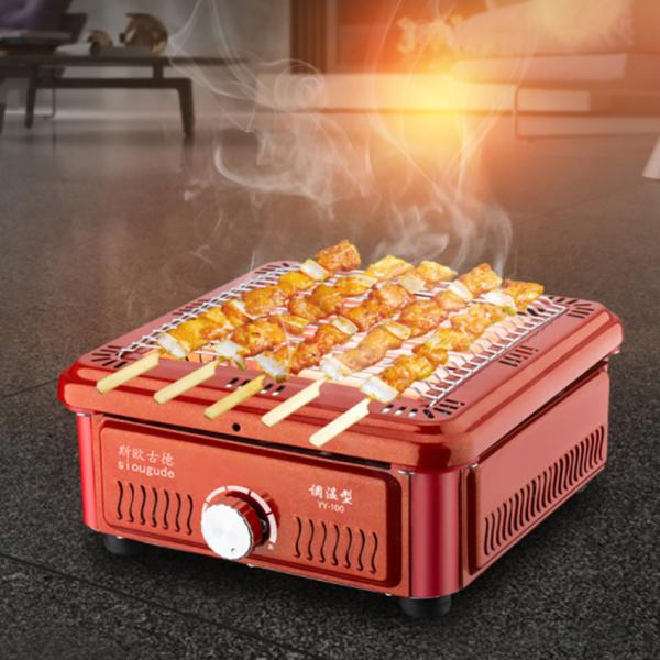 Lò máy sưởi ấm không khí và nướng nhiệt đa năng 2 in 1 sử dụng cho phòng ngủ có khay hứng dầu mỡ thừa và có thể tháo rời vỉ nướng vệ sinh tiện lợi