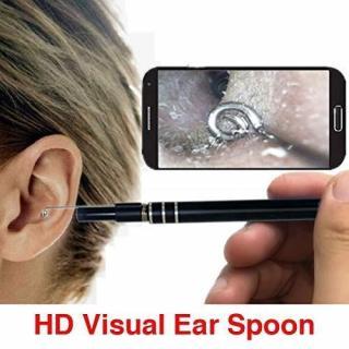 Camera nội soi y tế, Camera nội soi tai, mũi, họng - Máy lấy ráy tai HD Visual Earwas Clean Tool cho hình ảnh sắc nét, sử dụng dễ dàng trên điện thoại và máy tính - Bảo hành uy tín thumbnail