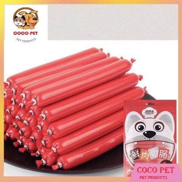 Gói 30 Cái Xúc Xích Vị Bò Dinh Dưỡng Cho Chó Mèo (Túi 30X15 gram)