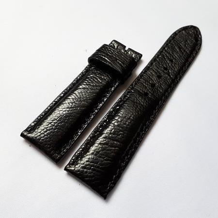 Dây đồng hồ da Đà điểu cao cấp 1 mặt (size 18mm) DD1M (màu đen) bán chạy