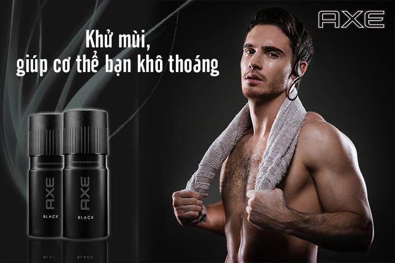 Combo 3 chai xịt khử mùi Axe BLACK 50ML tặng túi tiện lợi