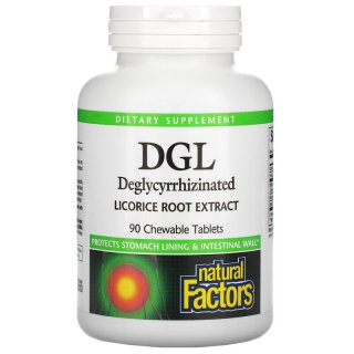 DGL, Deglycyrrhizinated Licorice Root Extract hộp 90 viên của Natural Factors - iHerb Việt Nam thumbnail