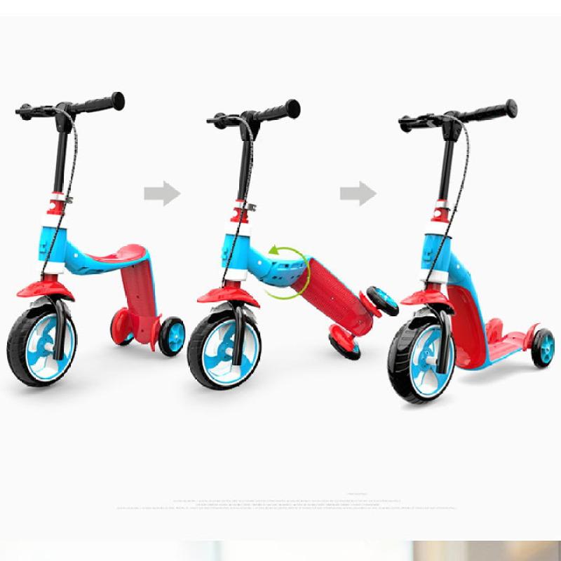 Mua Xe trượt scooter cho bé - Xe Trượt Scooter 3 bánh đa năng 2 trong 1, tay cầm có thể điều chỉnh, có phanh xe cho bé từ 2 - 6 tuổi