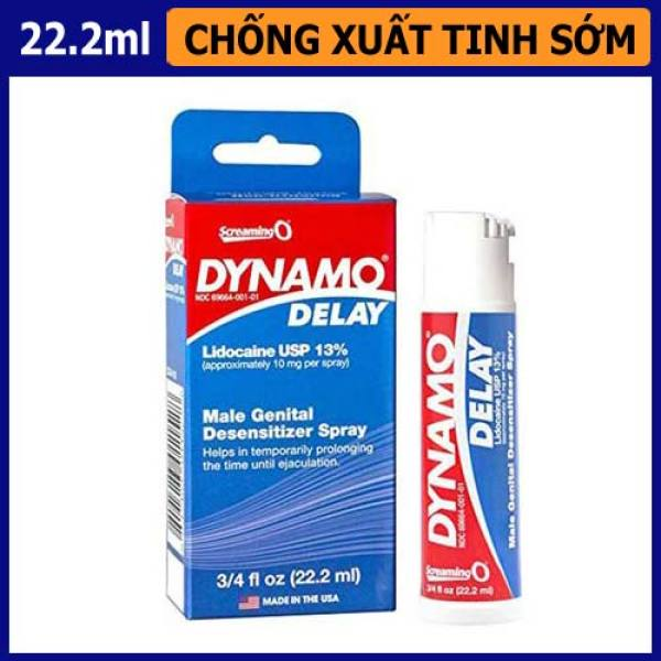 Chai xịt kéo dài thời gian Dynamo Delay cao cấp dung tích 22.2ml - Lấy lại bản lĩnh phái mạnh cao cấp