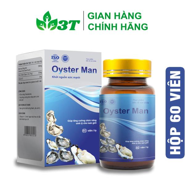 Tinh Chất Hàu Oyster Man (Hộp 60 Viên) Tăng Cường Sinh Lý Nam Giới, Bổ Sung Kẽm Và Khoáng Chất