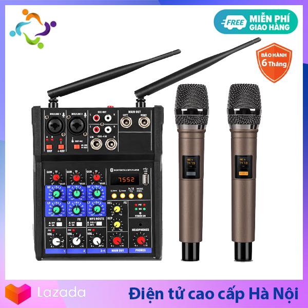 Bộ Mixer G4 Yamaha USB - bộ Mixer khuếch đại tiền âm thanh - Tặng Kèm 2 Micro Không Dây - Mixer Chuyên Karaoke Livestream Thu Âm Cao Cấp bộ mixer trộn âm thanh Mixer cao cấp Mixer Yamaha - Hàng nhập khẩu - Bảo hành 6 Tháng