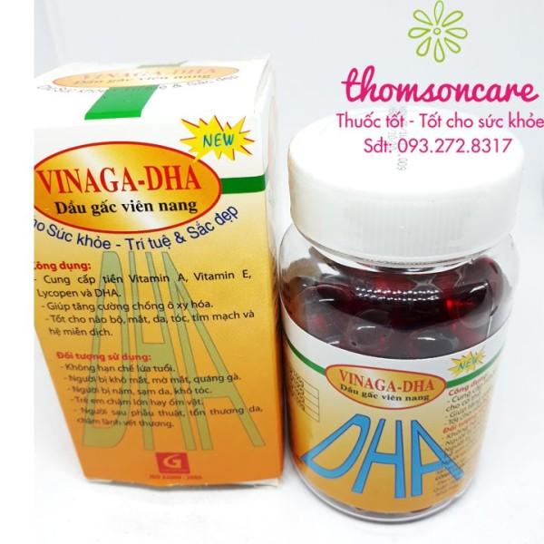 Dầu gấc Vinaga dạng viên uống - bổ mắt đẹp da ngừa lão hóa sản phẩm có nguồn gốc xuất xứ rõ ràng dễ dàng sử dụng cam kết sản phẩm y như hình