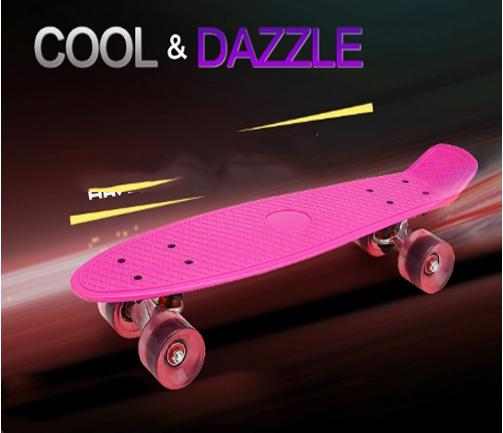 Giá bán Ván trượt Skateboard thép nguyên khối Bánh 3 lớp có đèn led - Ván trượt thể thao gg24 chịu lực 100kg /Ván trượt thể thao, Ván trượt Skateboard thép nguyên khối Bánh 3 lớp TRƯỢT CỰC ÊM, KUA CỰC ĐÃ