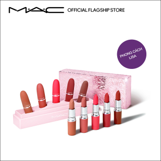 [Phiên bản giới hạn - Holiday] MAC Frosted Firework -Bộ 5 Son Powder Kiss Lipsticks (Trị giá 3.150.000VNĐ) Showstopper Powder Kiss Lipstick x 5 Kit Make Up Set thumbnail