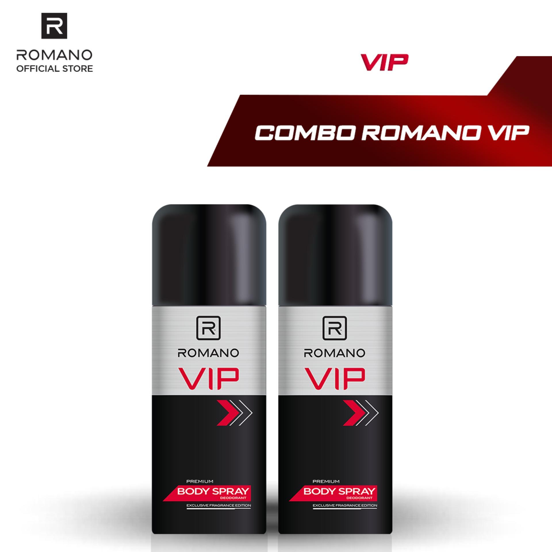 Combo 2 Xịt toàn thân cao cấp Romano Vip 150ml nhập khẩu