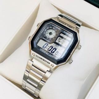 Đồng Hồ Nam Casio AE-1200 Worldtime, Kiểu Dáng Classic Chống Nước, Dây Thép Không Gỉ, Bảo Hành 12 Tháng thumbnail
