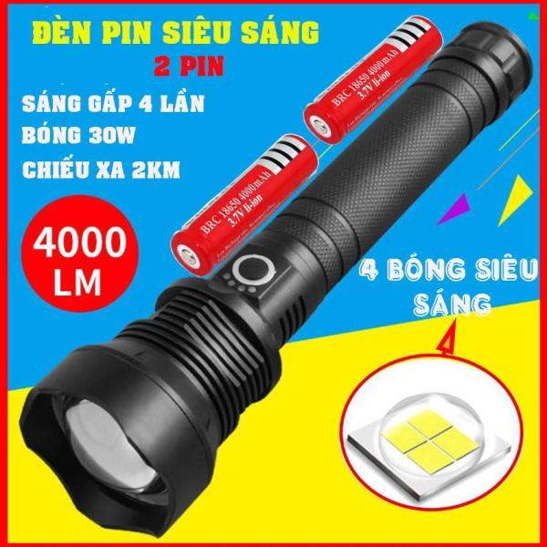 Đèn pin siêu sáng gấp 4 Lần đèn thường P70, công suất tới 30w, chiếu xa 2km, dùng được khi trời mưa(nhanhnhat)