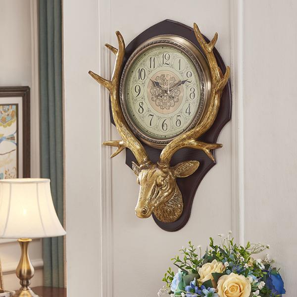 Đồng hồ treo tường, đồng hồ treo tường hình con nai/DH-104 bán chạy