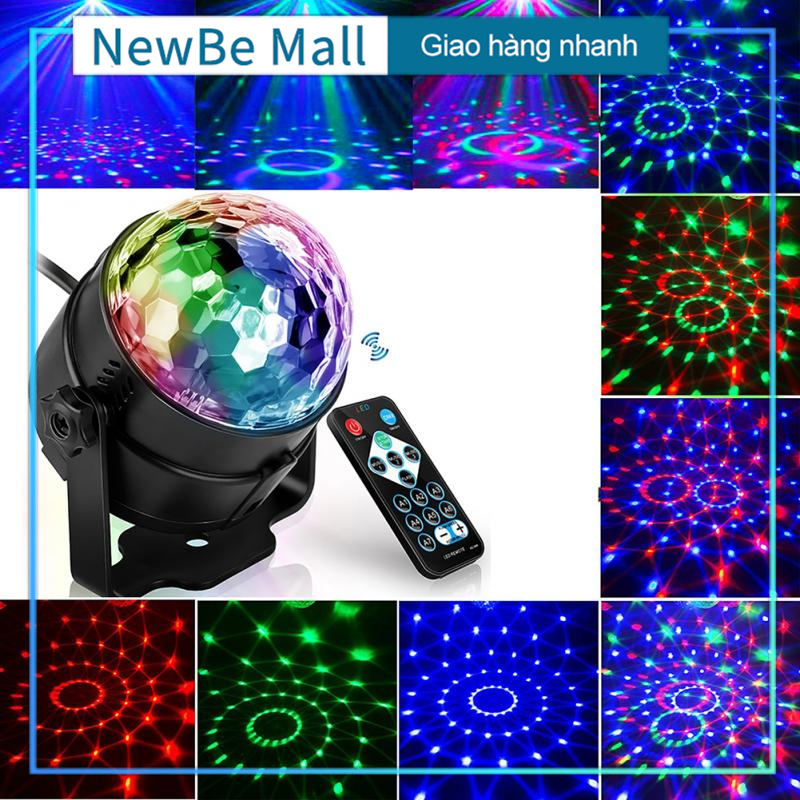 【New Be】Đèn LED 7 màu vũ trường cảm ứng nhạc, bóng đèn LED trụ, đèn LED xoay 7 màu sân khấu chớp theo nhạc, Đèn nháy theo nhạc, đèn chớp 7 màu, đèn trang trí, đèn Led karaoke, đèn Led vũ trường
