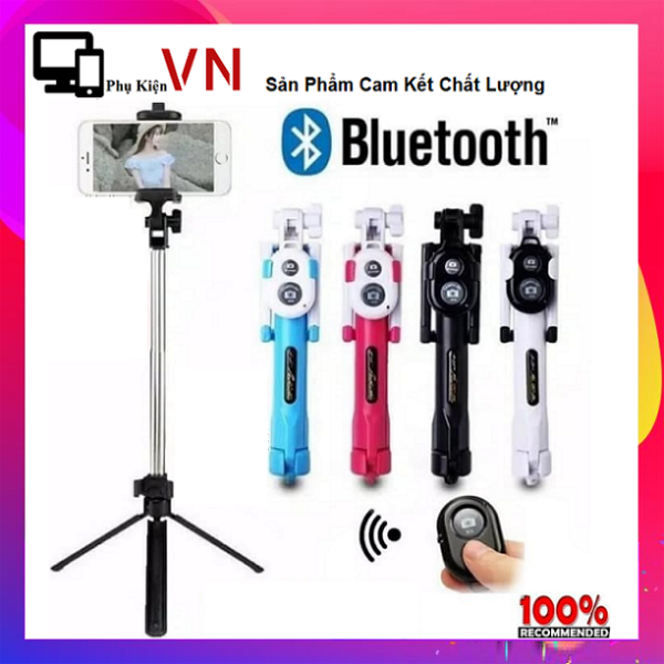 Giá ⚡ Tặng kèm Remote ⚡ Gậy Tripod Chụp Hình Selfie Stick Chân Máy Mini Có Thể Gập Lại 3 Trong 1