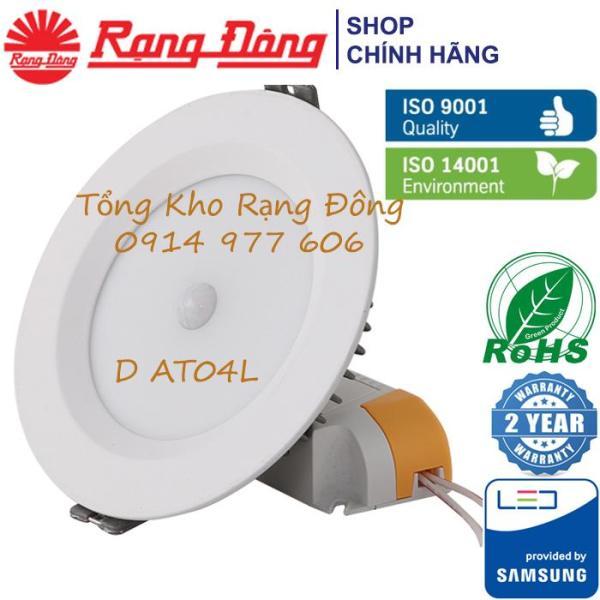 Đèn LED Âm Trần Cảm Biến 9W Rạng Đông, khoét lỗ 110mm. Bảo Hành 2 Năm. Model D AT04L 110/9W PIR