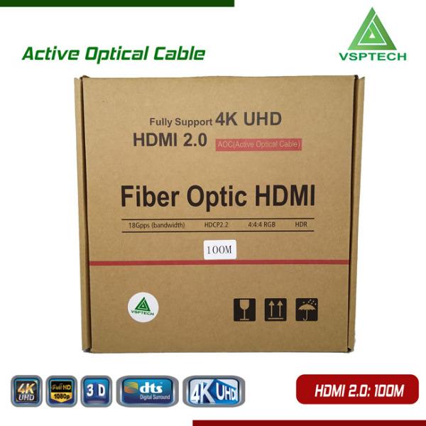 Bảng giá Cáp Active Opticail 4K - 3D HDMI 2.0V - 100m Phong Vũ