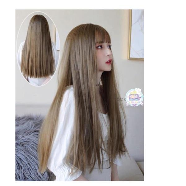 Tóc giả nữ đẹp😍❤️FREESHIP😃😃 cả đầu thẳng dài cao cấp
