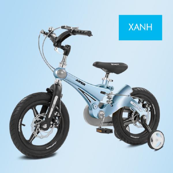 Mua Xe đạp trẻ em nhập khẩu có 2 bánh phụ đi kèm -Vành đúc, khung hợp kim magie nhẹ và chắc chắn, phanh đĩa, giảm xóc, tặng kèm bơm xe, dụng cụ lắp ráp.HAPPY HOME