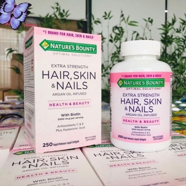 Viên uống đẹp da tóc và móng Nature's Bounty Hair Skin & Nails 250 viên [MỸ]