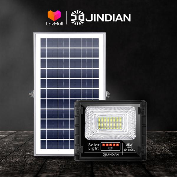 Đèn Năng Lượng Mặt Trời 25W JINDIAN JD8825L - Model 2020 | BẢO HÀNH 2 NĂM | Sản phẩm sử dụng 100% năng lượng mặt trời, có điều khiển từ xa tiện lợi và thông minh