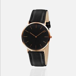 Đồng hồ thời trang dây da unisex (nam-nữ) Geneva PKHRGE068 - mặt đen thumbnail