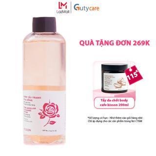 Nước tẩy trang hoa hồng KISSON 195ml làm sạch sâu, cân bằng độ ẩm, giúp se khít lỗ chân lông, không chứa cồn, paraben, kết hợp từ Tinh chất hoa hồng, Lactobionic Acid, Vitamin B3, phù hợp da dầu, da nhạy cảm, da mụn, da khô thumbnail