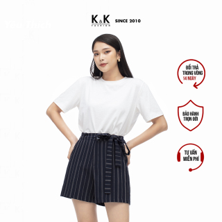 Áo Thun Trắng Nữ Cotton Basic K&K Fashion ASM06-29 thumbnail